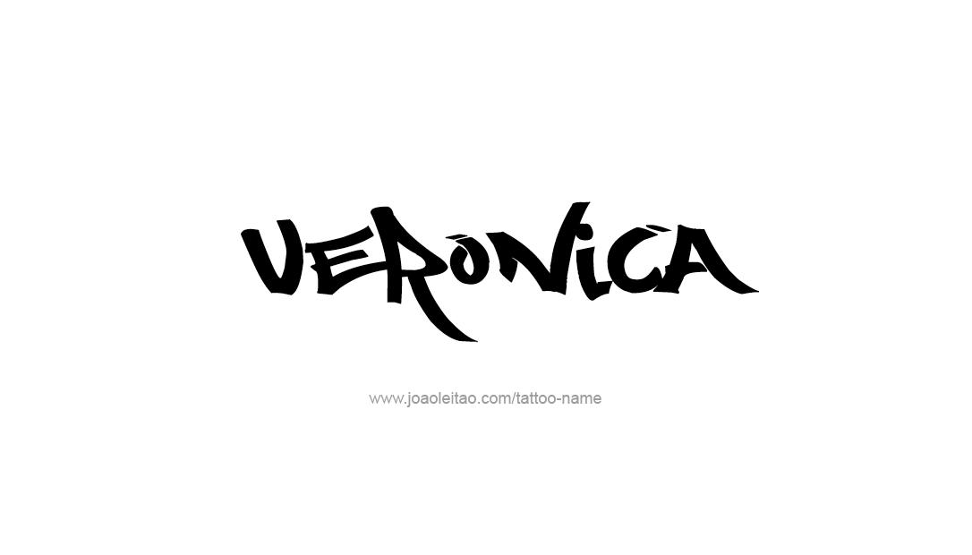 Veronica Name Tattoo Designs