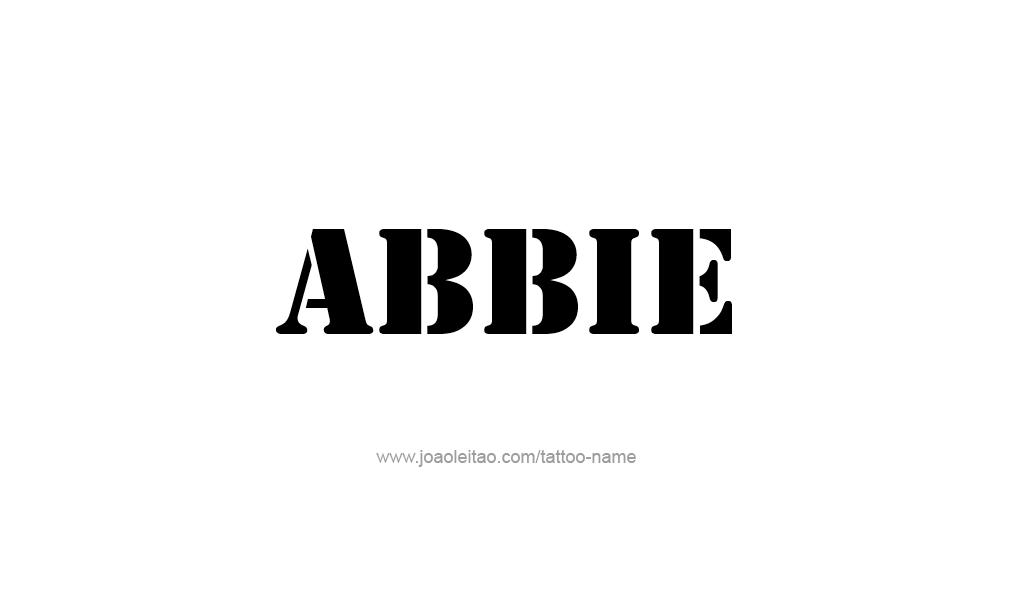 abbie name tattoo designs