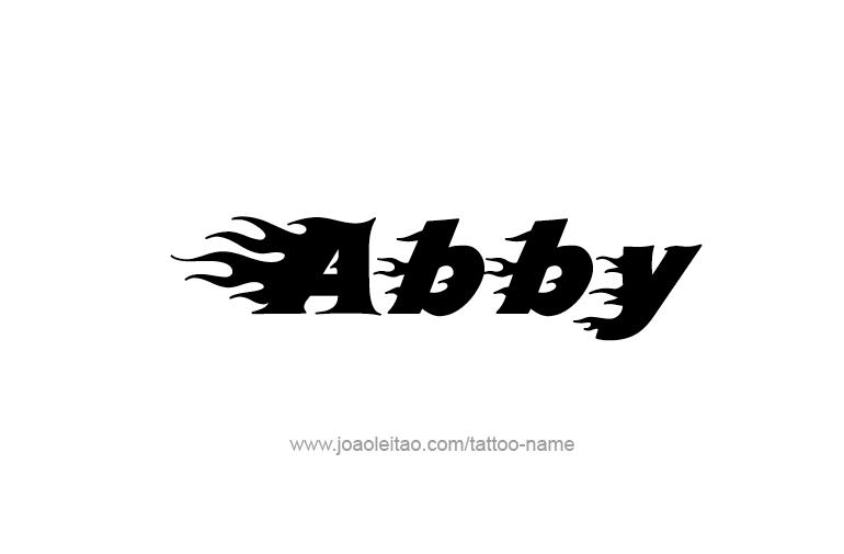 abby name tattoo designs