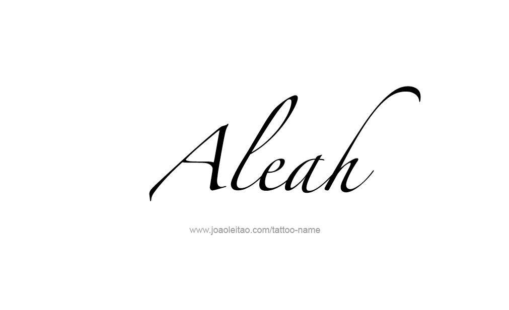 aleah name tattoo designs