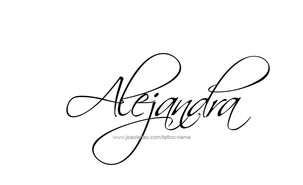 Alejandra Name Tattoo Designs