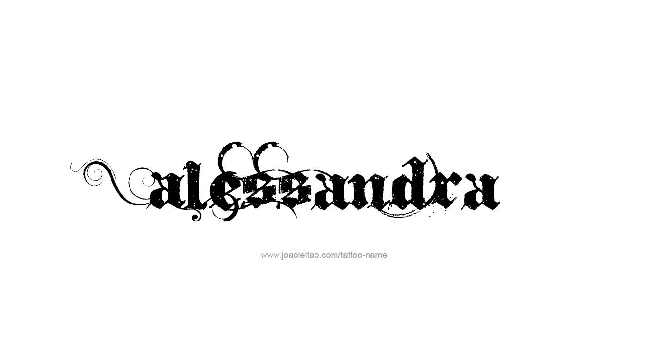 alessandra name tattoo designs