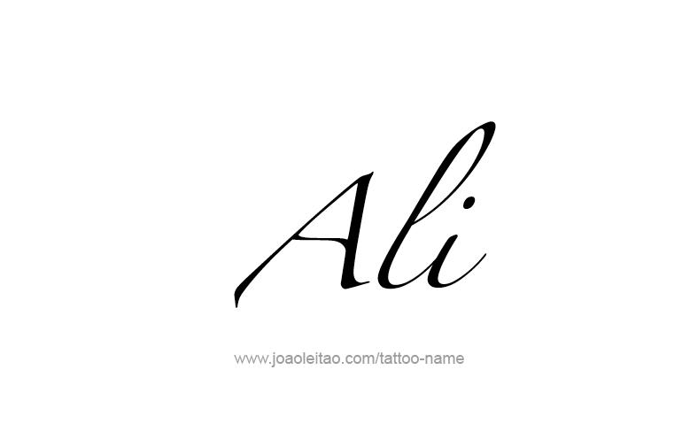 ali name tattoo designs
