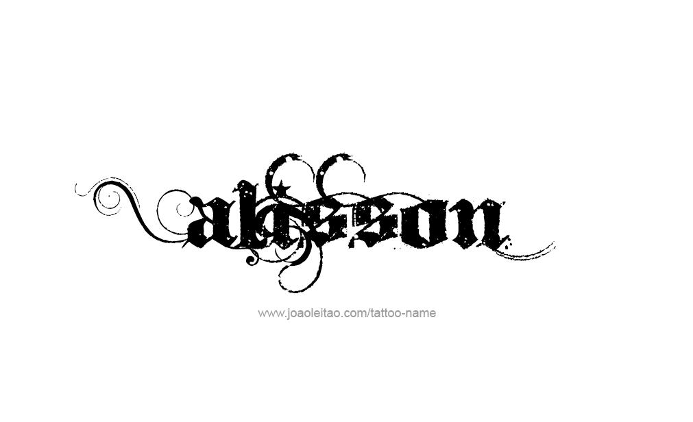 alisson name tattoo designs