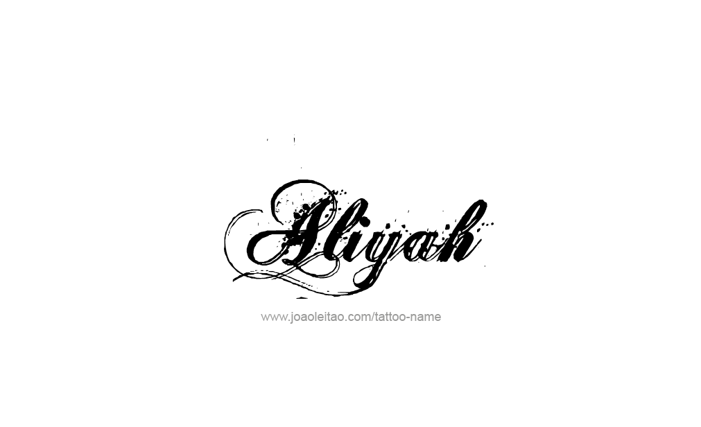 aliyah name tattoo designs. Black Bedroom Furniture Sets. Home Design Ideas
