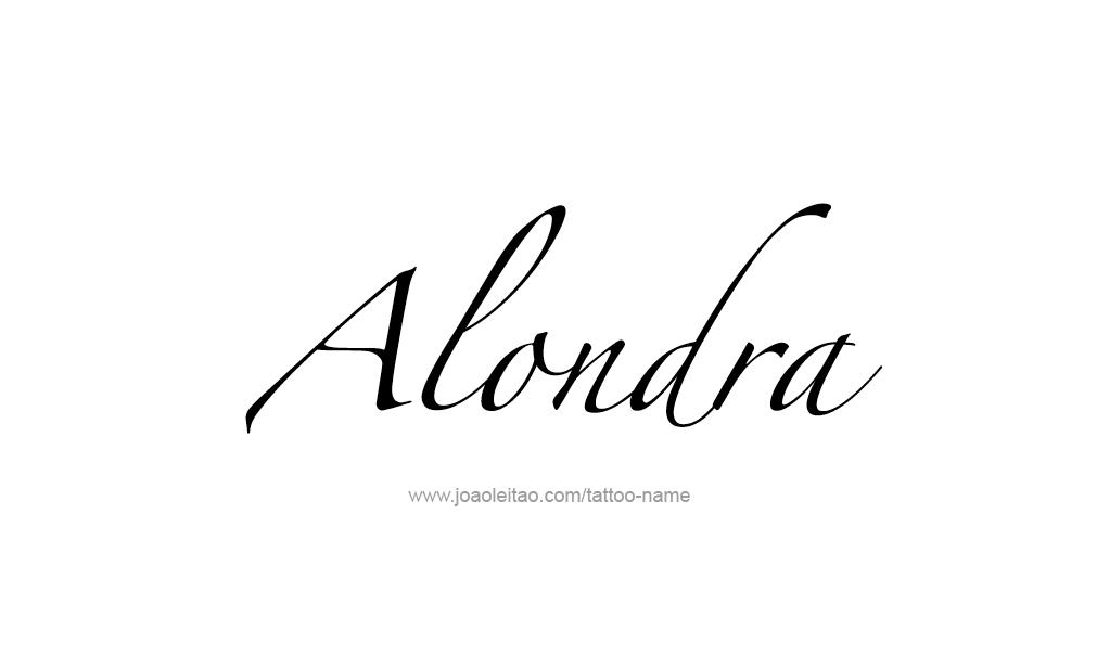 Alondra Name Tattoo Designs