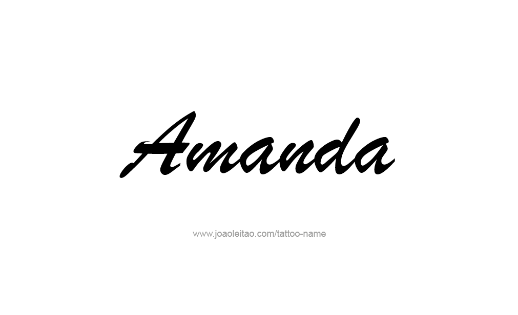 Amanda Name Tattoo Designs