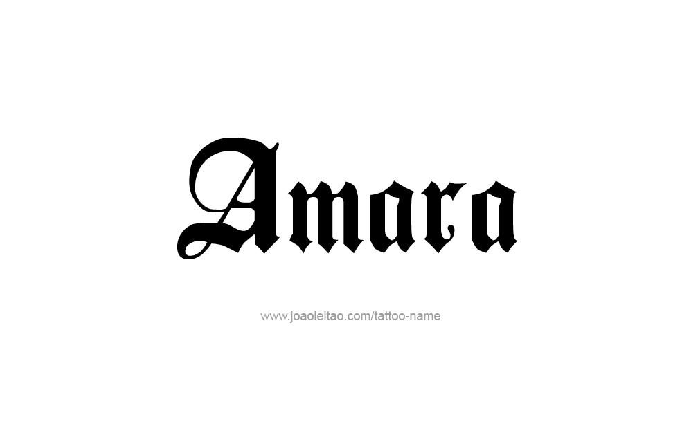 amara name tattoo designs