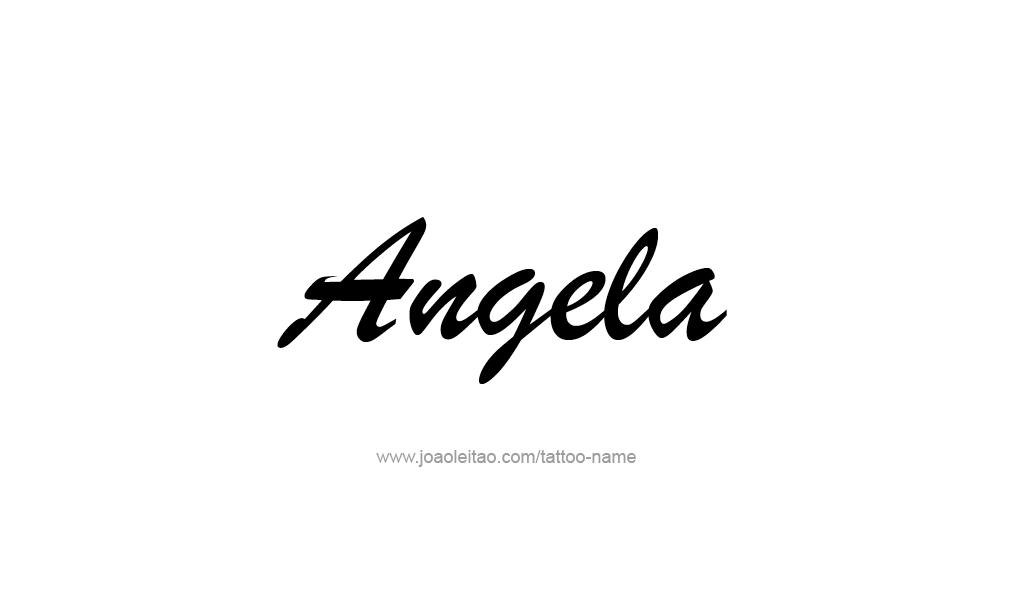 angela name tattoo designs