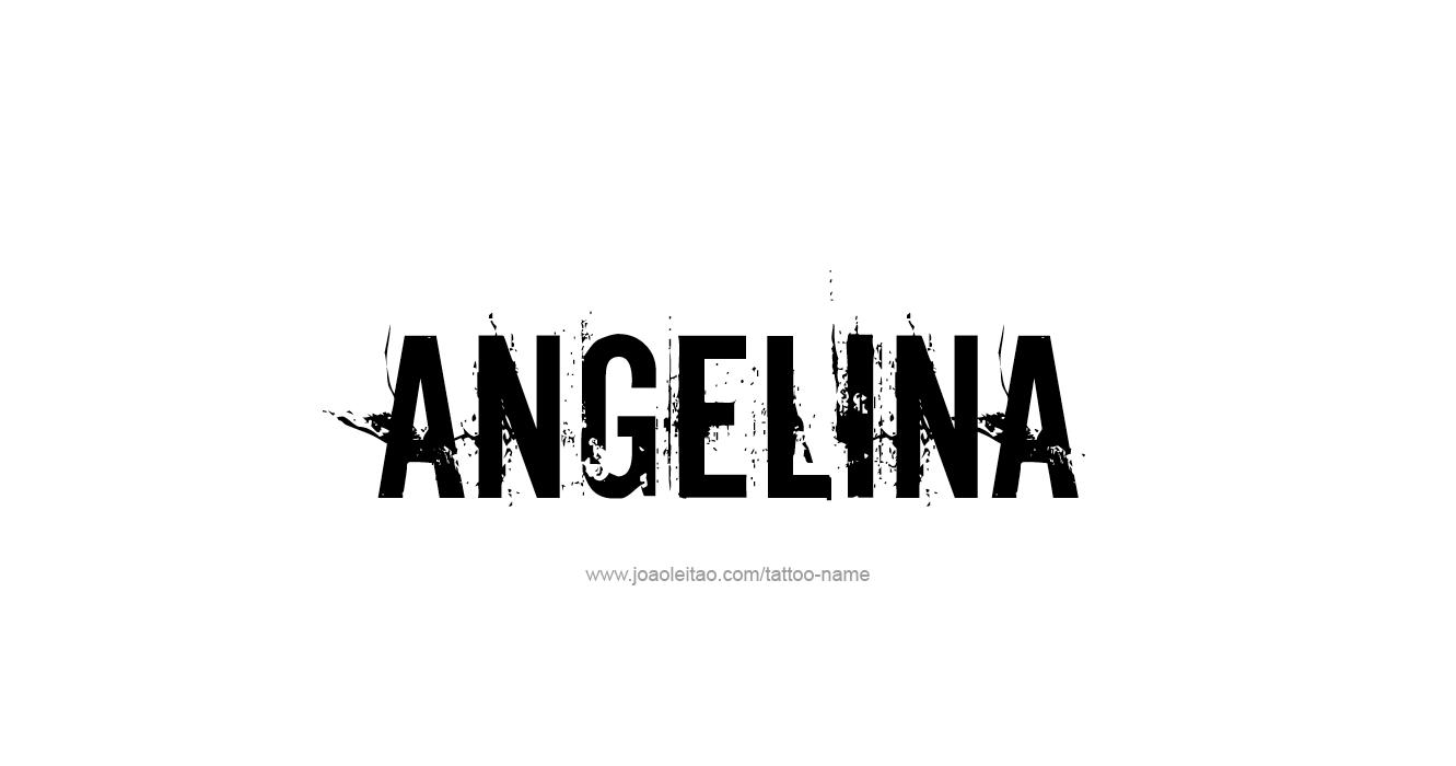 Name: Angelina Name Tattoo Designs