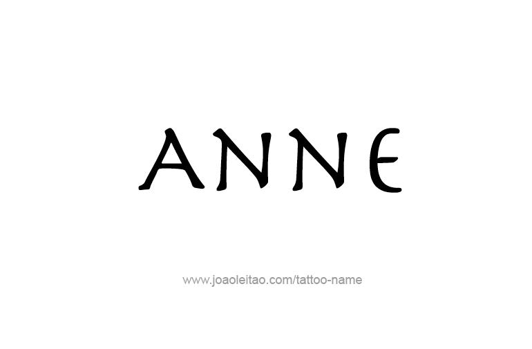 anne name tattoo designs. Black Bedroom Furniture Sets. Home Design Ideas