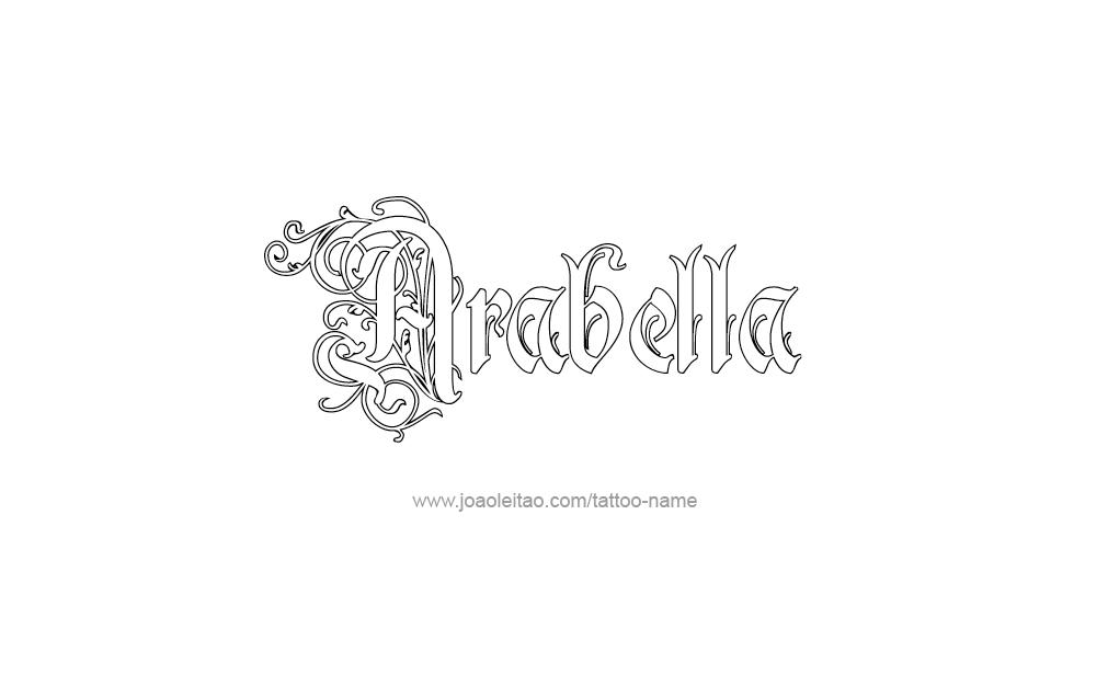 Arabella Name Tattoo Arabella Name Tattoo Designs