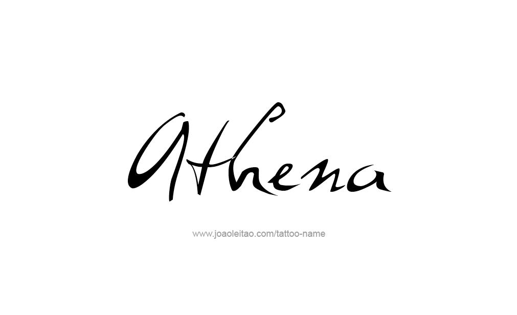 athena name tattoo designs
