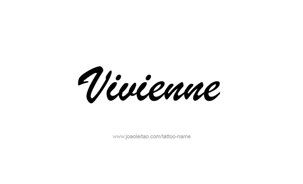 Tattoo Design  Name Vivienne