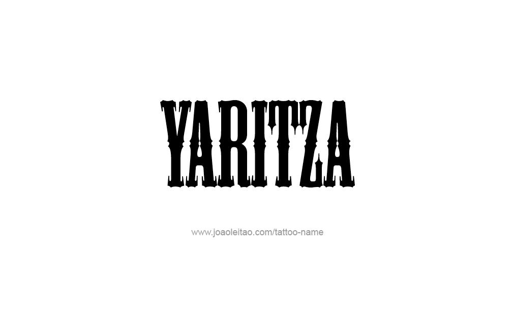 yaritza name tattoo designs