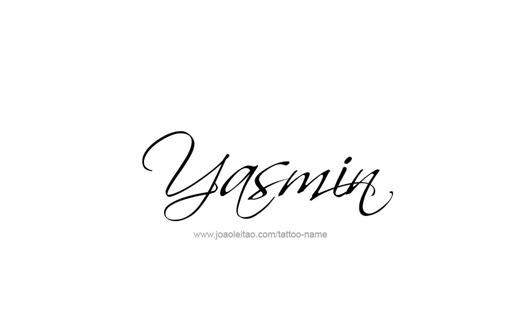 Yasmin Name Tattoo Designs