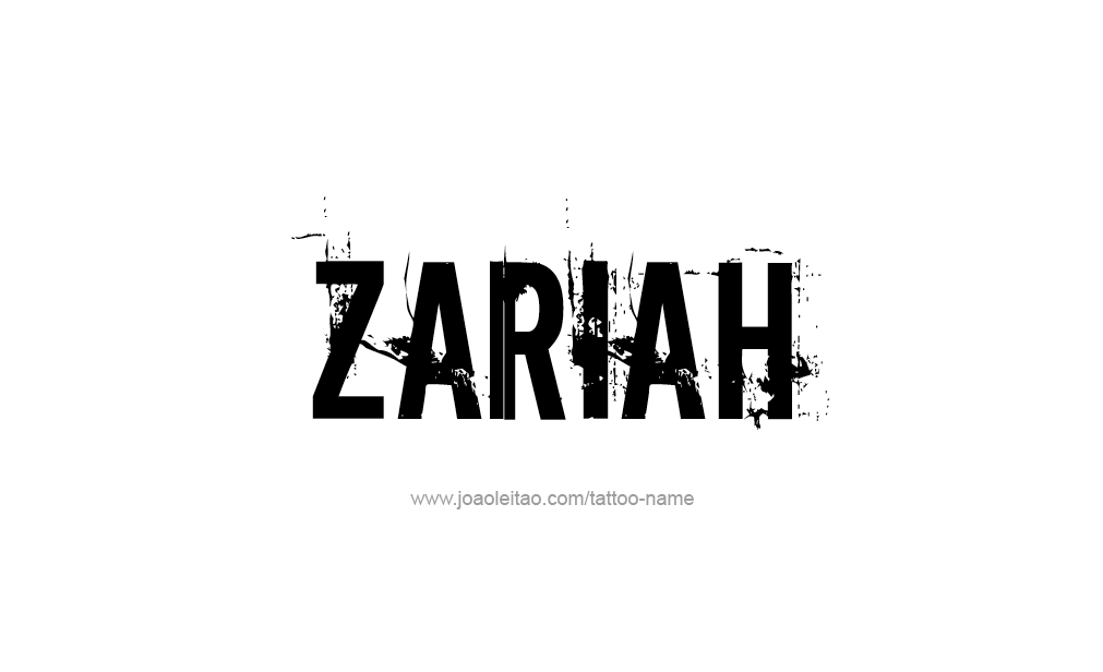 zariah name tattoo designs