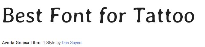 averia gruesa Libre  Font Style
