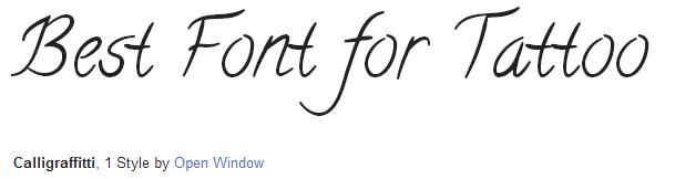 calligraffitti Font Style