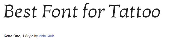 kotta Font Style
