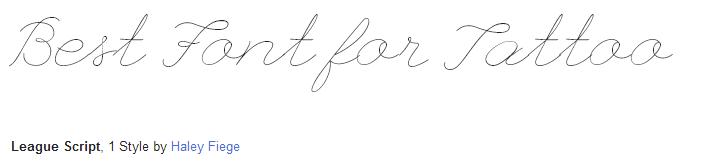 league script Font Style