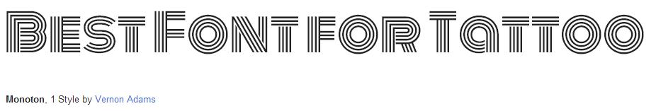 monoton Font Style