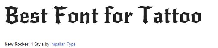 new-rocker Font Style - Best Tattoo Fonts