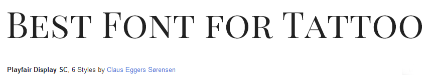 playfair Font Style