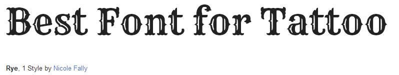rye Font Style