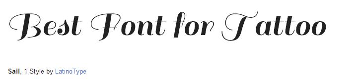 sail Font Style