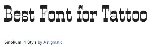 smokum Font Style