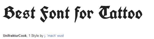 unifrakturcook Font Style