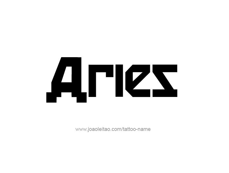 Aries Horoscope Tattoos