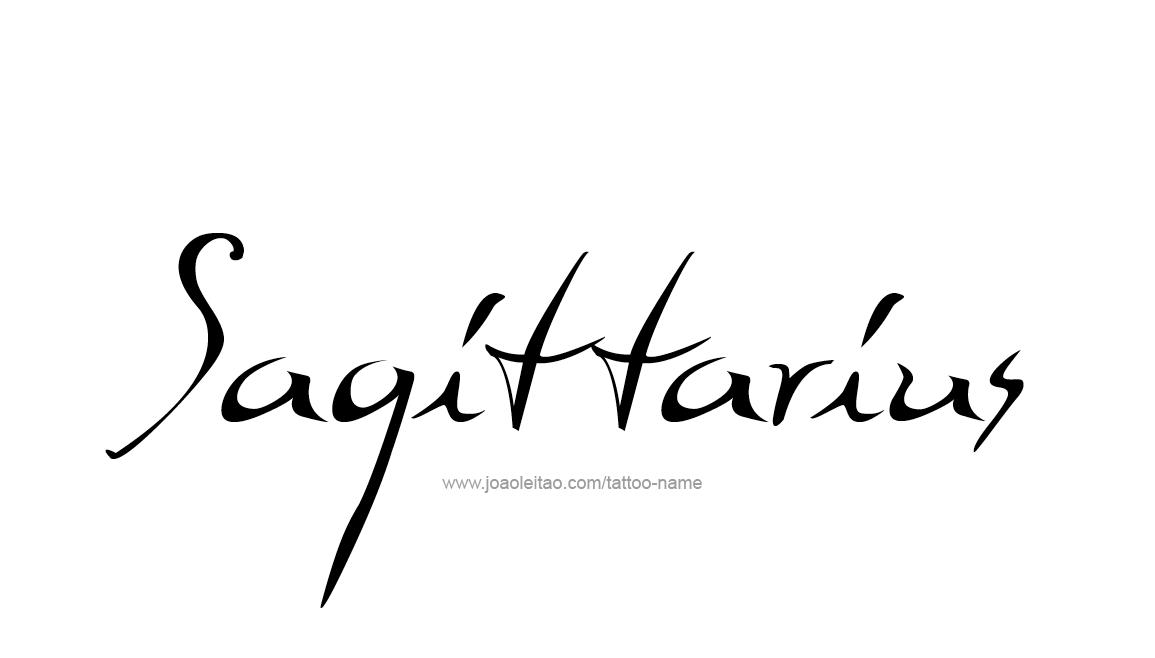 Tattoo Design Horoscope Name Sagittarius