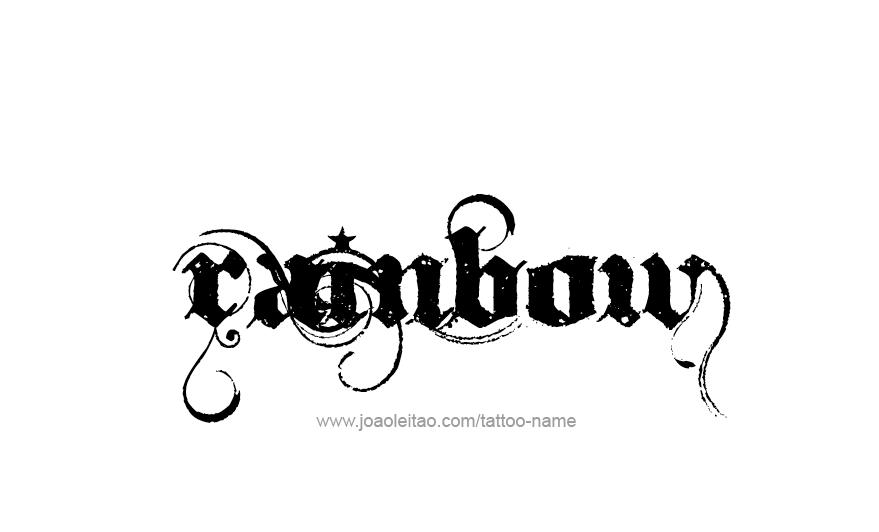 Rainbow Name Tattoo Designs - ✍ Tattoos with Names