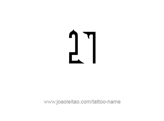 Number Seven Tattoo Tattoo Design Number Twenty