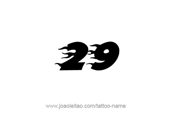 Twenty Nine-29 Number Tattoo Designs - Page 4 of 4 ...
