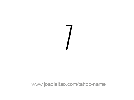 Number Seven Tattoo Tattoo Design Number Seven