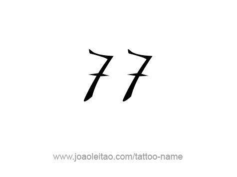 Number Seven Tattoo Tattoo Design Number Seventy