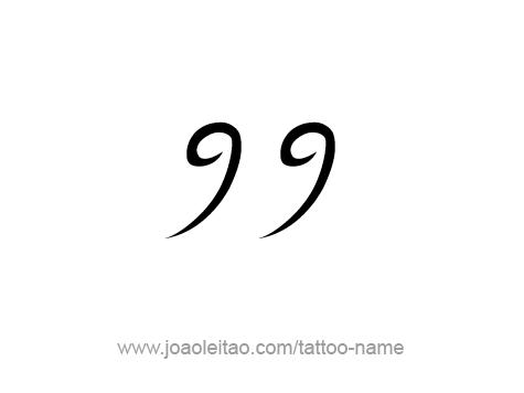 ninety nine 99 number tattoo designs tattoos with names. Black Bedroom Furniture Sets. Home Design Ideas