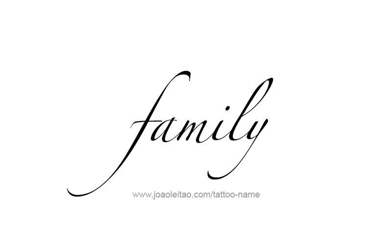 Tattoo Design Love Word Name Family