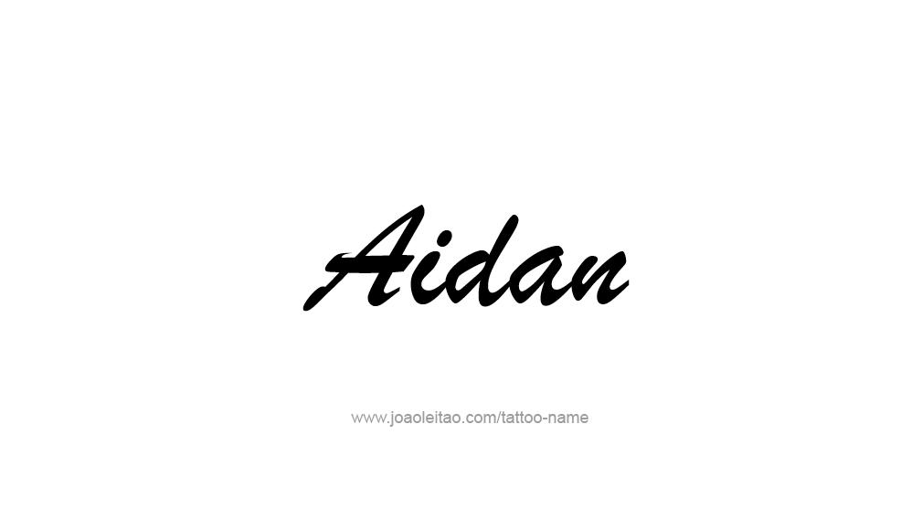 aidan name tattoo designs. Black Bedroom Furniture Sets. Home Design Ideas
