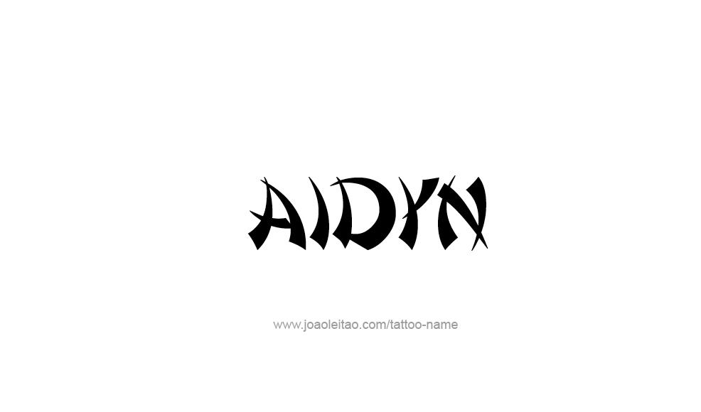aidyn name tattoo designs. Black Bedroom Furniture Sets. Home Design Ideas