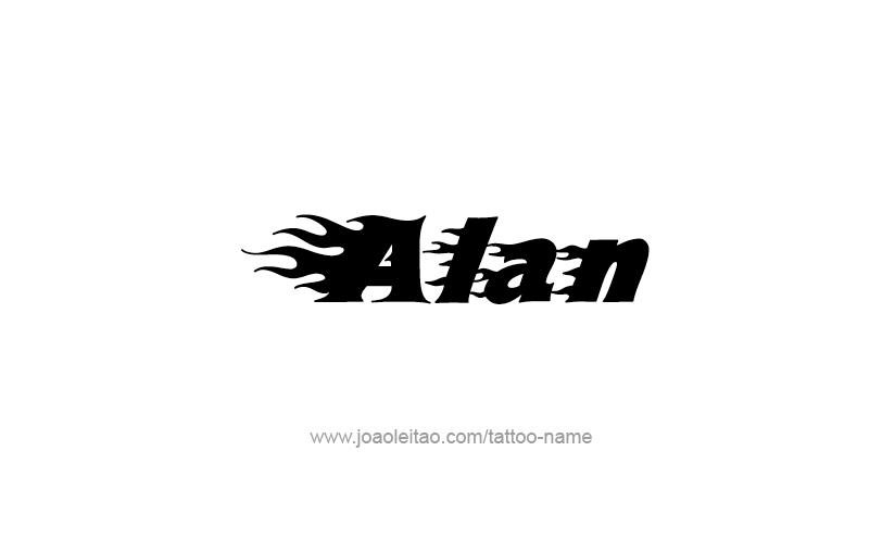 Alan Name Tattoo Designs