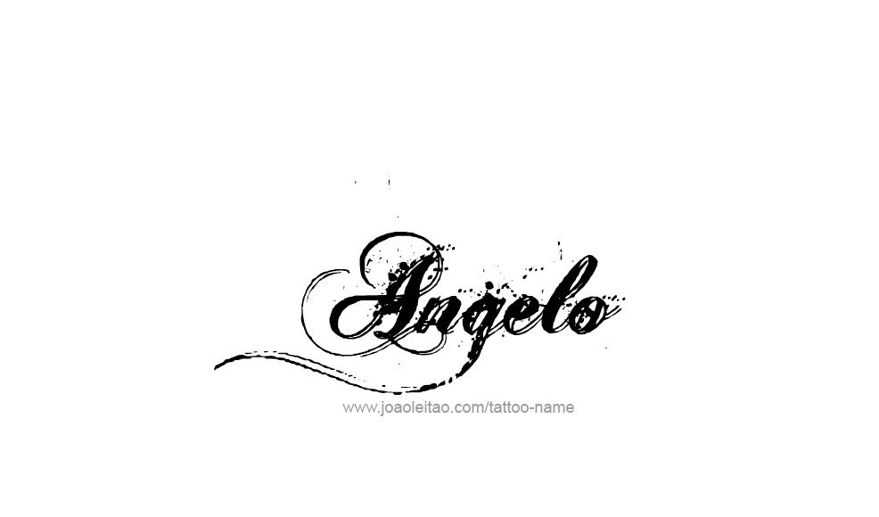Angelo Name Tattoo Designs