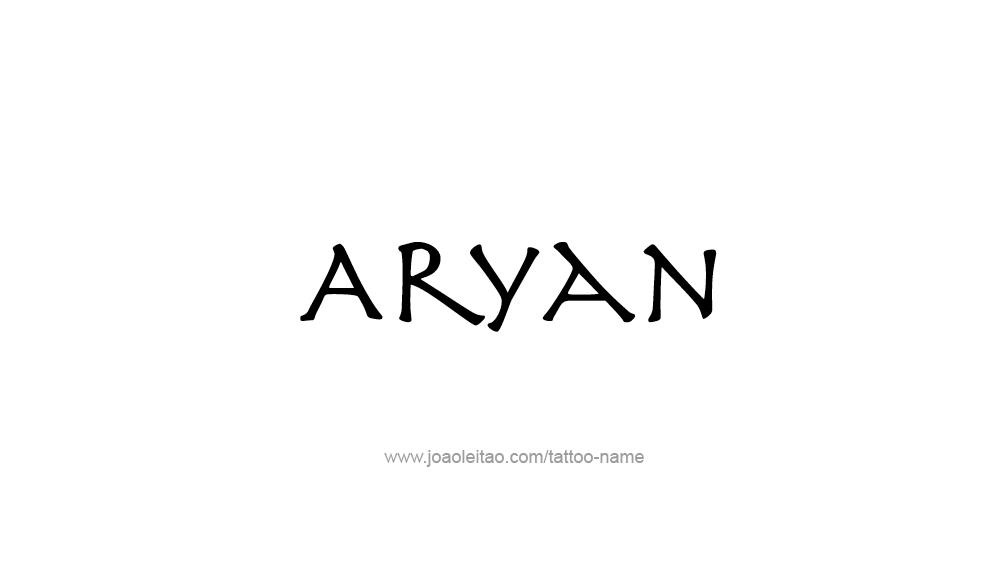 Aryan Tattoo Designs tattoo-design-name-ary...