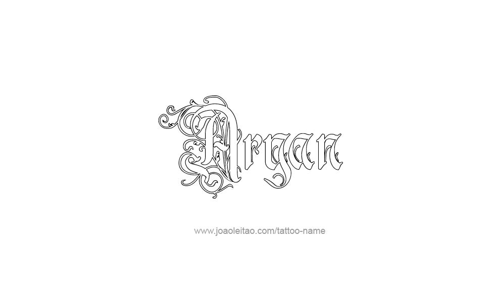 Aryan Tattoo Designs Aryan Name Tattoo Designs