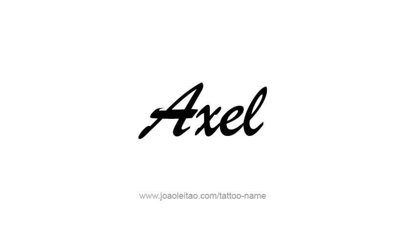 axel name tattoo designs