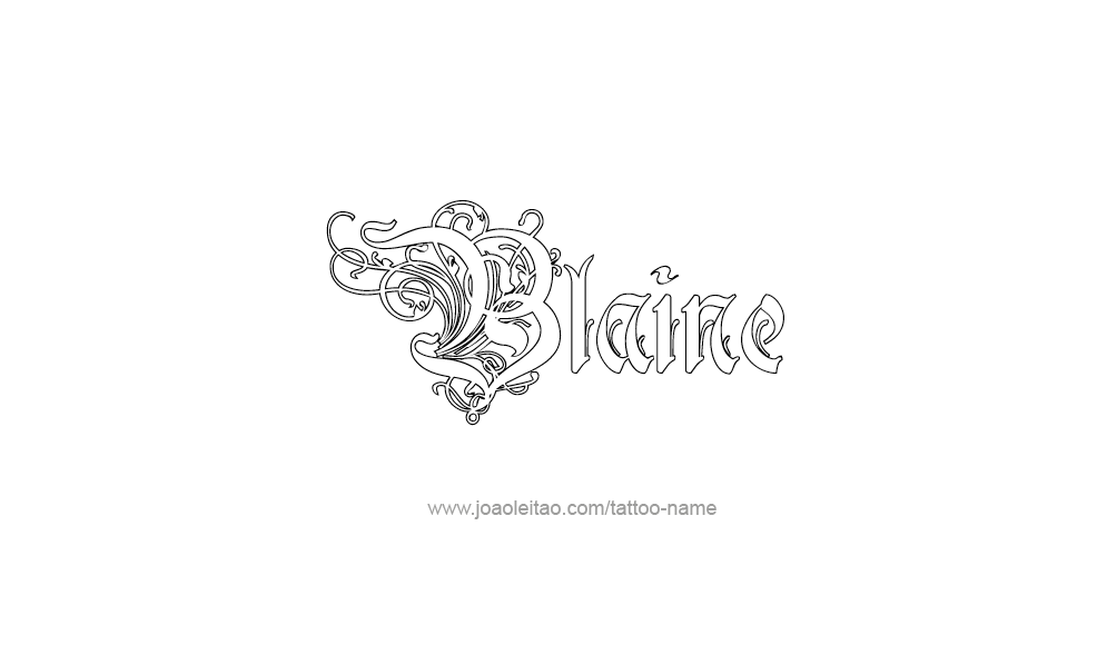 blaine name tattoo designs. Black Bedroom Furniture Sets. Home Design Ideas