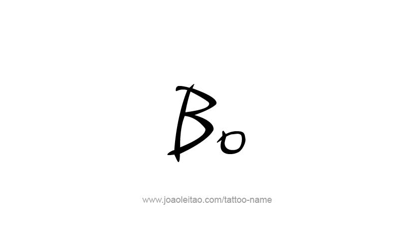 bo name tattoo designs. Black Bedroom Furniture Sets. Home Design Ideas